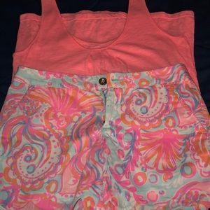 Lilly Pulitzer Shorts & Tank Top Set | S size
